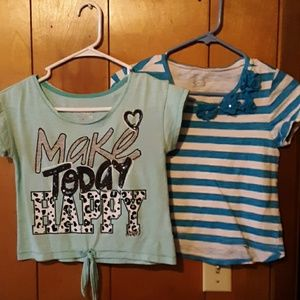 Bundle (2) Justice tops girls size 12